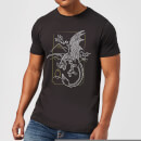 harry-potter-dragon-line-art-herren-t-shirt-schwarz-3xl-schwarz
