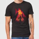 harry-potter-dumbledore-silhouette-herren-t-shirt-schwarz-4xl-schwarz