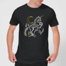 harry-potter-unicorn-line-art-herren-t-shirt-schwarz-3xl-schwarz