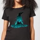 harry-potter-hogwarts-silhouette-damen-t-shirt-schwarz-s-schwarz