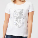 harry-potter-dragon-line-art-damen-t-shirt-wei-xxl-wei-