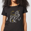 harry-potter-unicorn-line-art-damen-t-shirt-schwarz-l-schwarz