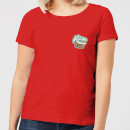 natural-history-museum-t-rex-badge-women-s-t-shirt-red-l-rot