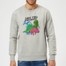 save-the-dinosaurs-sweatshirt-grey-m-grau