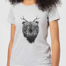 balazs-solti-dear-bear-women-s-t-shirt-grey-s-grau