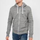Superdry Men's Orange Label Zip Hoody - Flint Grey Grit