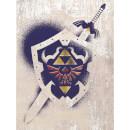 The Legend Of Zelda (Hylian Shield Stencil) Canvas Print