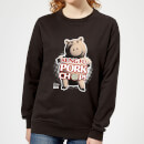 toy-story-kung-fu-pork-chop-women-s-sweatshirt-black-s-schwarz