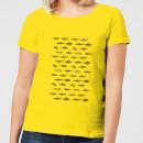 fish-in-geometric-pattern-women-s-t-shirt-yellow-m-gelb