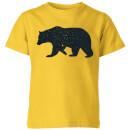 bear-kids-t-shirt-yellow-11-12-jahre-gelb