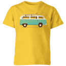 blue-van-kids-t-shirt-yellow-9-10-jahre-gelb