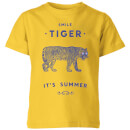 florent-bodart-smile-tiger-kids-t-shirt-yellow-9-10-jahre-gelb