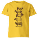 florent-bodart-cow-cow-nuts-kids-t-shirt-yellow-5-6-jahre-gelb
