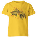 florent-bodart-fish-in-geometry-kids-t-shirt-yellow-3-4-jahre-gelb