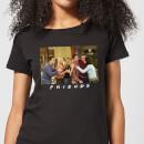 friends-cast-shot-damen-t-shirt-schwarz-5xl-schwarz