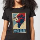 Camiseta Star Wars Yoda Póster - Mujer - Negro - XS - Negro Negro XS