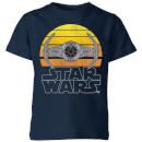 star-wars-sunset-tie-kids-t-shirt-navy-5-6-jahre-marineblau