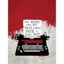 The Shining (Typewriter) 60 x 80cm Canvas Print Multicolor