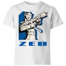 star-wars-rebels-zeb-kids-t-shirt-white-9-10-jahre-wei-