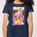 rick-and-morty-80s-poster-damen-t-shirt-navy-blau-s-marineblau