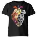 tobias-fonseca-flower-heart-spring-kids-t-shirt-black-3-4-jahre-schwarz