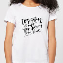 do-something-to-make-your-dreams-come-true-women-s-t-shirt-white-5xl-wei-, 17.99 EUR @ sowaswillichauch-de