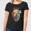 flower-heart-spring-women-s-t-shirt-black-m-schwarz