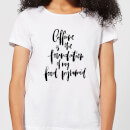caffeine-is-the-foundation-of-my-food-pyramid-women-s-t-shirt-white-l-wei-, 17.49 EUR @ sowaswillichauch-de
