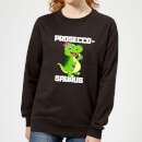 be-my-pretty-proseco-saurus-women-s-sweatshirt-black-m-schwarz