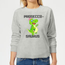 be-my-pretty-prosecco-saurus-women-s-sweatshirt-grey-l-grau