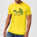universal-monsters-der-schrecken-vom-amazonas-retro-crest-herren-t-shirt-gelb-s-gelb