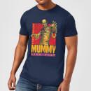 universal-monsters-die-mumie-retro-herren-t-shirt-navy-blau-s-marineblau