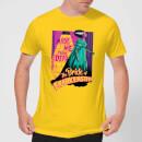 universal-monsters-retro-bride-of-frankenstein-herren-t-shirt-gelb-s-gelb