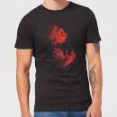 universal-monsters-der-wolfsmensch-illustrated-herren-t-shirt-schwarz-s-schwarz