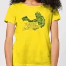 universal-monsters-der-schrecken-vom-amazonas-retro-crest-damen-t-shirt-gelb-s-gelb