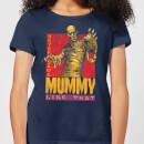 universal-monsters-die-mumie-retro-damen-t-shirt-navy-blau-s-marineblau
