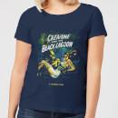 universal-monsters-der-schrecken-vom-amazonas-vintage-poster-damen-t-shirt-navy-blau-s-marineblau