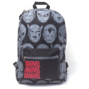 Marvel Characters All Over Printed Backpack - Black Negro