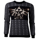 Nintendo The Legend of Zelda Women's Tri-Force Glitter Christmas Jumper - Black - XL - Negro Negro XL