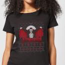 universal-monsters-dracula-christmas-damen-t-shirt-schwarz-s-schwarz
