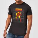 marvel-avengers-classic-iron-man-herren-christmas-t-shirt-schwarz-xxl-schwarz