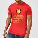 marvel-avengers-iron-man-pixel-art-herren-christmas-t-shirt-rot-s-rot