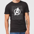 marvel-avengers-logo-men-s-christmas-t-shirt-black-s-schwarz