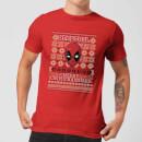 marvel-deadpool-herren-christmas-t-shirt-rot-xxl-rot