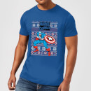 marvel-avengers-captain-america-men-s-christmas-t-shirt-royal-blue-xxl-royal-blue