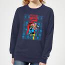 marvel-avengers-thor-damen-weihnachtspullover-navy-blau-xxl-marineblau, 19.99 EUR @ sowaswillichauch-de
