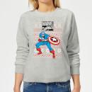 marvel-avengers-captain-america-women-s-christmas-sweatshirt-grey-5xl-grau