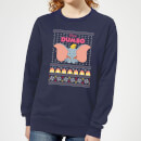 Disney Classic Dumbo Women's Christmas Sweatshirt - Navy