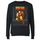 marvel-avengers-classic-iron-man-women-s-christmas-sweatshirt-black-s-schwarz