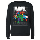 marvel-avengers-group-women-s-christmas-sweatshirt-black-s-schwarz